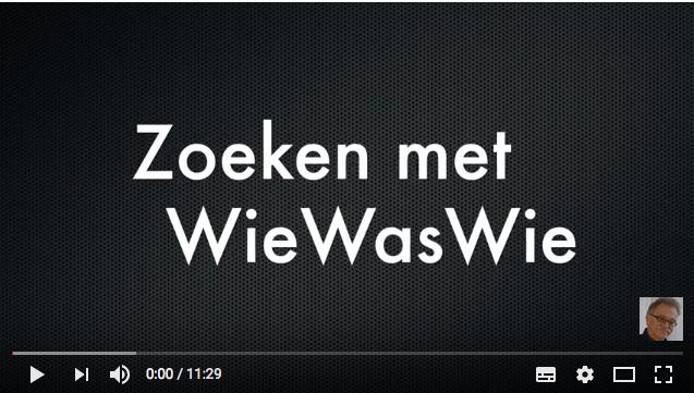 Zoeken met WieWasWie YouTube