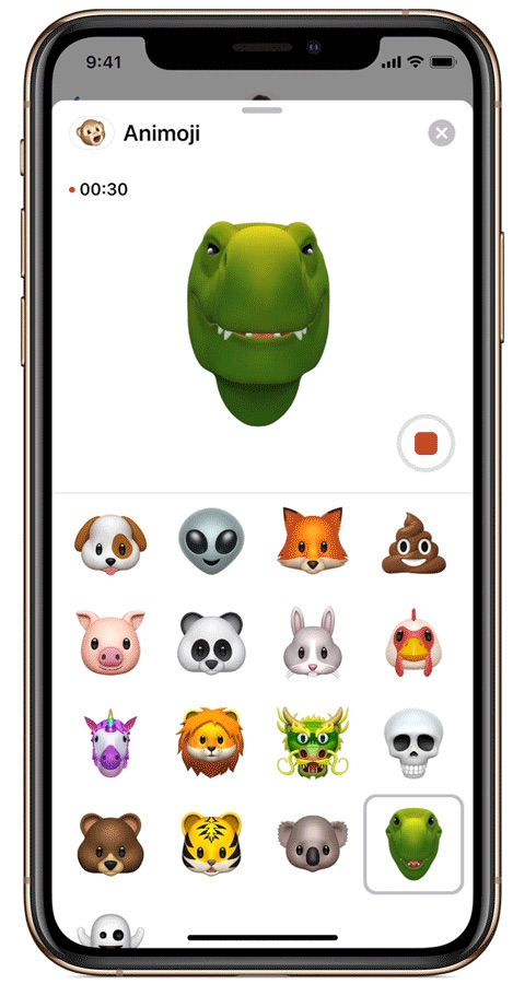 iOS12 iPhoneXs Animoji Dino 09172018 gif large gif
